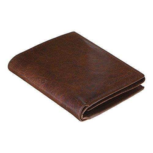 Preisvergleich Produktbild BOULETTA Handgemachte Männer LEDER Portemonnaie GELDBÖRSE Kartenbörse BRIEFTASCHE Geldbeutel KARTENETUI Wallet – Braun VEG MILANO