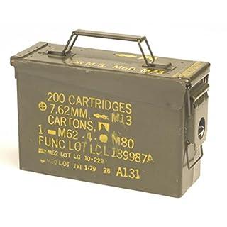 Originale gebrauchte Munitionskiste der U.S. Army für 200 Patronen Kaliber 7,62 Metallkiste Mun-Kiste Behälter Metallbox