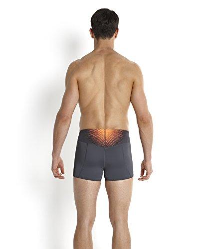 Speedo Fit Pinnacle Aqua Short de bain Homme Gris Oxydé/Orange Fluo/Or Global
