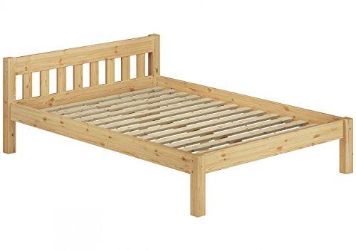 Erst-holz letto matrimoniale futon 160x200 in pino massello eco laccato con assi di legno 60.38-16