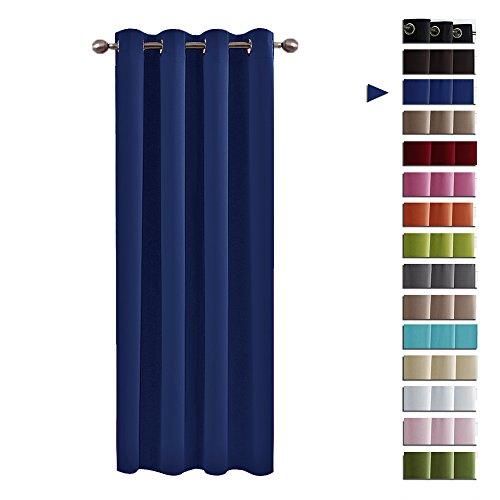 Blickdicht Vorhang mit Ösen Junge - PONY DANCE 158 x 132 cm (H x B), Blau Vorhänge Gardinen 1 Stück Verdunkelungsvorhänge Büro, Wohnzimmer fashion