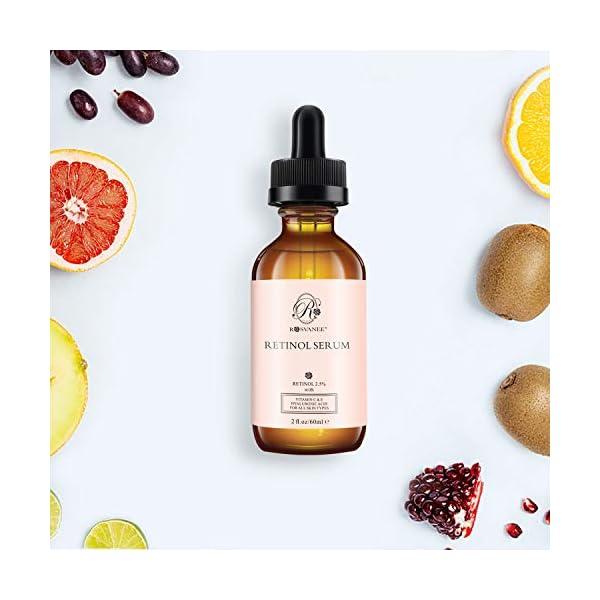 ROSVANEE Serum Retinol para Cara 60ml – Alta Dosis con 2.5% Retinol, ácido hialurónico, Vitamina C y E, Suero Facial Antiedad para Reparación Piel, Cicatriz, Mancha Oscura, Línea Fina y Arrugas …