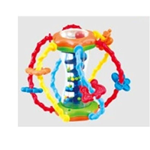 Playgo Baby Entdeckerball Motorikspielzeug mit Rassel und Schleife