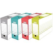 Elba 400064941 - Pack de 20 cajas de archivo definitivo automontable, 10 cm, multicolor