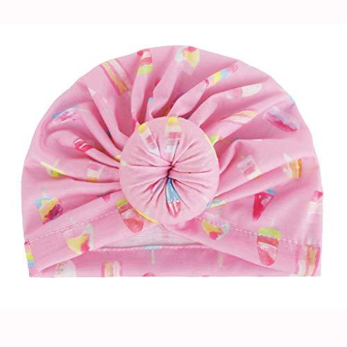 y Drucken Turban Kleinkind Baby Jungen Mädchen Baumwolle Indien Hut reizenden weichen Hut(Mehrfarbig,Einheitsgröße) ()