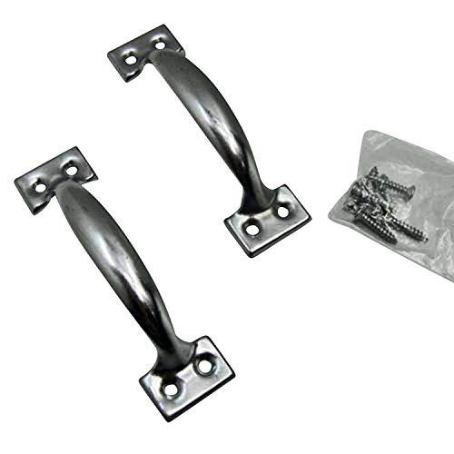 Handgriffe SET 2 tlg. 12 cm Metall verchromt, Hand Halte Schubladen Bügel Griffe (LHS) (Hand Griff)