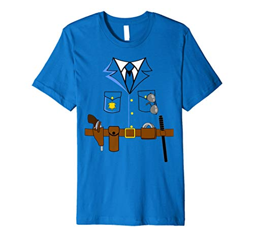 Polizei Faschingskostüm Shirt Karneval Anzug Polizeikostüm