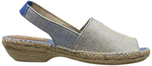 White Mountain Chyme Offener Spitze Stoff Slingback Sandale Blue/Met