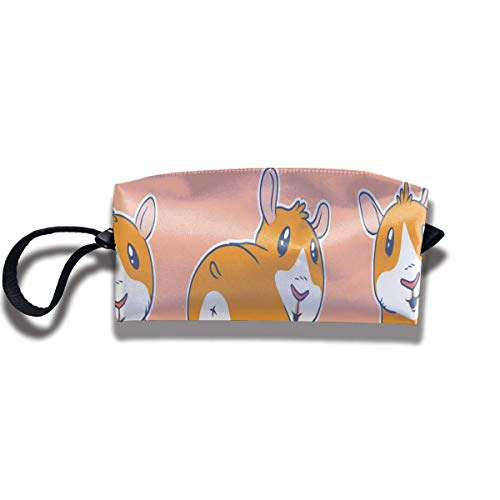 Cartoon Guinea Pigs Print Lightweight Cosmetic Pouch Bag Trendy Toiletry Purse Travel Cosmetic Bag Pouch with Zipper (C Und Guinea Pig-c)