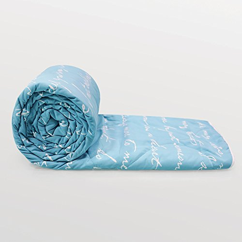 Divine Casa Luxor Abstract Microfibre Single Comforter - Blue