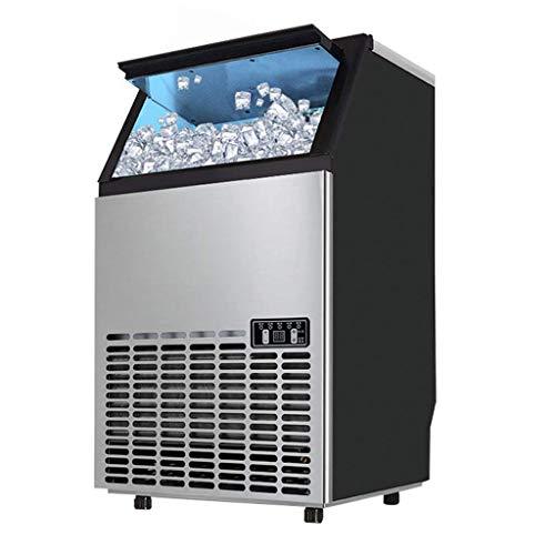 TYUIO Tragbare Eismaschine, Arbeitsplatte Eismaschine, 26 Pfund EIS pro 120 Stunden, 36 Eiswürfel in 10-20 Minuten, Edelstahl Eismaschine, Silber - Ice Kühlschränke Mit Maker