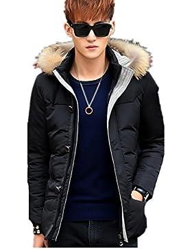 Engrosada chaqueta de invierno de los nuevos hombres del estilo por la chaqueta con capucha , black , l