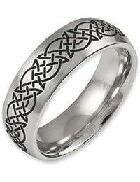Herr der Ringe Jewelry Unisex-Ring Edelstahl  schwarz 1020