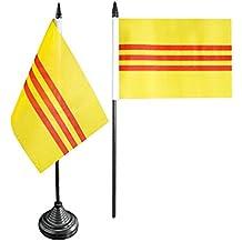 gratis Aufkleber Tischflagge Tischfahne Vietnam Flaggenfritze/®