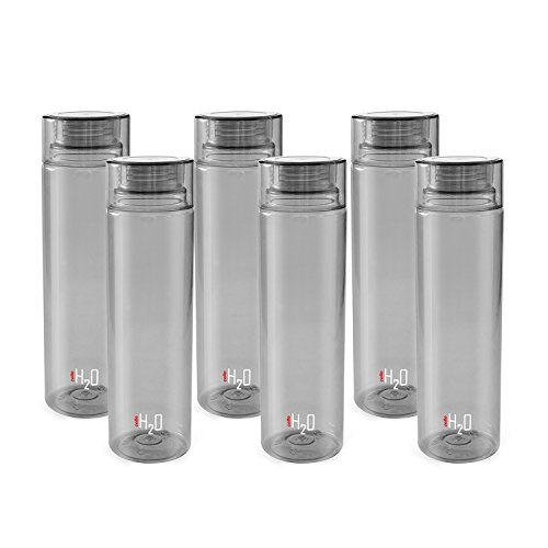 Cello H2o Fridge Water Bottle Grey Set Of 6
