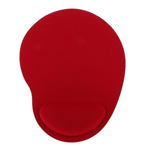 Alfombrilla de Ratón con Reposamuñecas Cojín de Ratón Gel Mouse Pad Varios Colores - Rojo