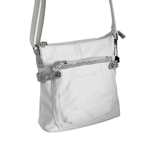 Jennifer Jones piccola borsa da donna präsentiert von ZMOKA® in diversi stili Colori, Olivebraun (marrone) - 0 bianco
