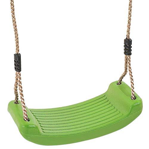 YSYDE Gartenspiele Kunststoff Geformter Schaukelsitz für Kinder mit verstellbaren Seilen Ideal für Schaukel-Sets und Klettergerüste Perfekter Ersatz Schaukel ist robust und langlebig