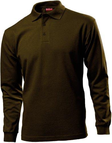 Beefy Piqué Langarm Poloshirt Brown