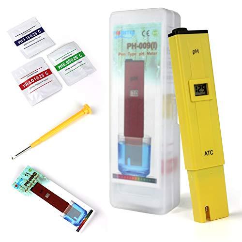 Ytian Digitales pH Messgerät mit LCD-Display, tragbarer Tester/Messer für Aquarium, pH Tester für Urin, pH Wert Meter für Pools, Monitor für Aquarium und Pool Wasser -