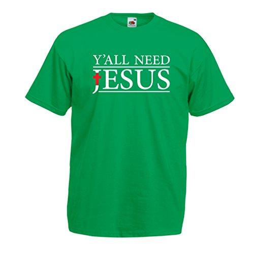 6e7e9bff06 lepni.me Camisetas Hombre Todos Necesitan a Jesucristo: Novedad, Ropa de  religión Cristiana