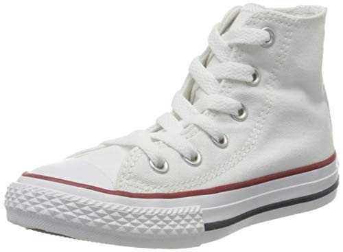 Converse Chuck Taylor All Star Hi 015860-21-3, Unisex - Kinder Sneakers, Weiß (Optical Weiß), EU 23