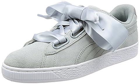 Puma Suede Heart Safari, Sneakers Basses Femme, Gris (Quarry-Quarry), 37.5 EU