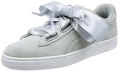 Basket Heart Met Safari Trainer Puma Light Grey Womens Customize