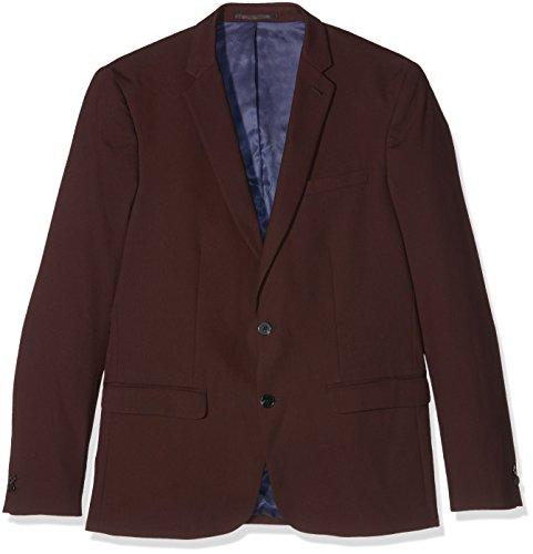 New Look Herren Anzug, Coloured Skinny Suit, Red (Dark Burgundy), Gr. 106 CM (Herstellergröße: 42R) -