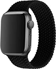 braided solo loop replacement band for apple watch (42/44mm - Small, Black)