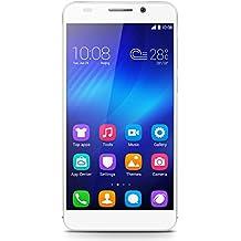 """Honor 6 - Smartphone libre (pantalla de 5"""", 16GB, 3 GB de RAM, cámara trasera de 13 MP y delantera de 5 MP, Android OS, v4.4.2 KitKat, LTE) blanco"""