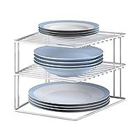 Metaltex Corner Shelf Insert Silos 25x25x195cm, Metal, White, 1 - Pack