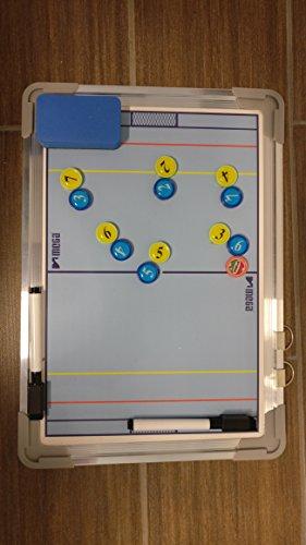 Lavagna Tattica Media a pallanuoto su Entrambi i Lati, con magneti, Penna e Gomma (24 x 34 cm)