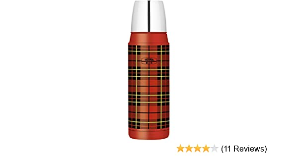 Thermos Fashion Series Stainless Steel Flask, Red Tartan, 470 ml