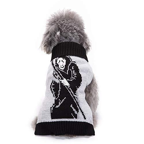 Eyxia- Pet Master Hundepullover mit Rollkragen, gerippt, für kleine Hunde