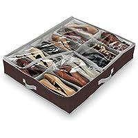 Domopak - Organizador de calzado para debajo de la cama (tamaño grande, 12 compartimentos