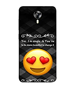 PrintVisa Designer Back Case Cover for Micromax Canvas Nitro 4G E371 (Single Unmarried Bachelor Wordings Quotations)