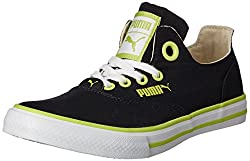 Puma Mens Limnos CAT 2 DP Black-Lime Punch-White Mesh Running Shoes - 4 UK/India (37 EU)