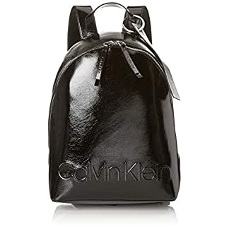 41YId3uh%2BVL. SS324  - Calvin Klein - Edged Backpack S, Mochilas Mujer, Negro (Black), 15x38x27.5 cm (B x H T)