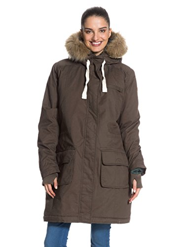 Roxy, Cappotto Donna Road Trip HD, Marrone (Major Brown), M