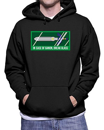 Funky NE Ltd In Case Of Ganon Break Glass - TLOZ - Gaming - Hoodie - Cotton - Small To 5XL - 3 Colours - Youth Sizes - Great Gift Idea by