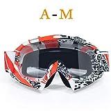 DFGDH Motorrad Schutzbrille Schutzbrille Streifenbrille Motocrossbrille Ski Cross Country Flexible Dirt Bike Brille