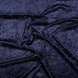 Pannesamt Stoff Meterware - 147cm breit - Dunkelblau