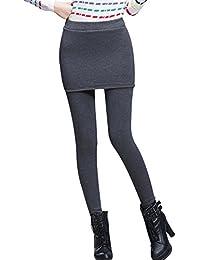 Phorecys Femme Leggings Mini Jupe Pantalon Doublé en Velours Chaud Automne  Hiver 30b53ef1fec6