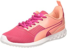 Puma Women's Carson Pro Wn s IDP Pink Alert-Nrgy Rose-White Running Shoes-6 UK (39 EU) (7 US) (19335702)