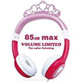 OneOdio Kids Safe Headphones - 85dB Volume Limited Headsets for Kids, Durable, Adjustable, Lightweight Headphones with 3.5mm Audio Jack,and Birthday Gift for Children and Girls (Pink)