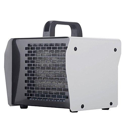 Homeleader Chauffage électrique en acier inoxydable - Radiateur soufflant - Puissance réglable 1000/2000W – Coloris Gris – ALP-020S-01-W