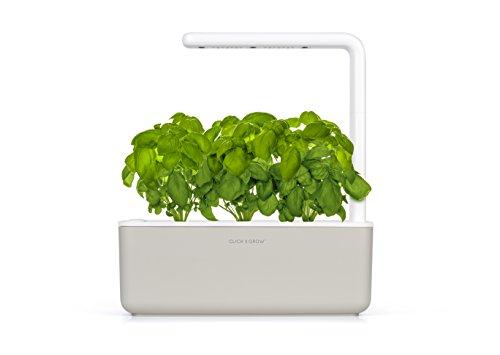 Click & Grow Smart Garden 3 jardinière d'intérieur 30 x 10 x 28 cm Beige (contient 3 capsules de basilic)