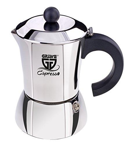 GRÄWE Espressokocher aus Edelstahl