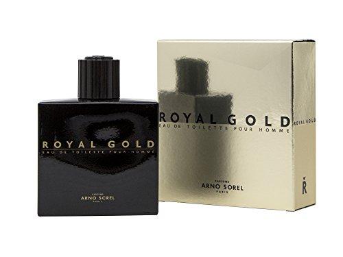 Duftwasser Royal Gold für Herren, 100 ml - DER KÖNIG IST DA! (Herren Woody Shirt)